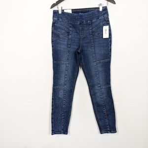 Style & Co Ultra Skinny Pull On Patchwork Jeans